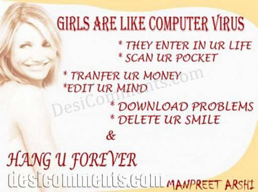 Picture: Girls are like virus