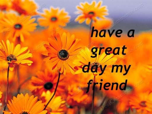 Have a great day, my friend