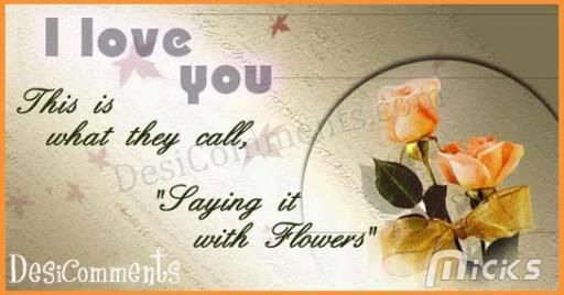Saying it with Flowers