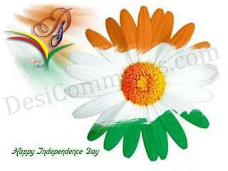 Picture: Flower colored in Indian Flag Colors