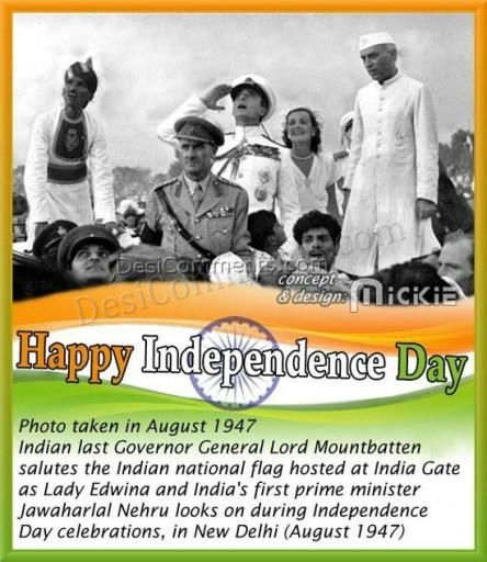Happy Independence Day (August 15, 1947)