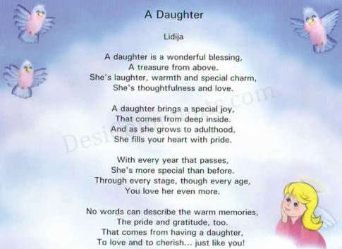 Poetry for mother from daughter for Short poems for daughters from mothers