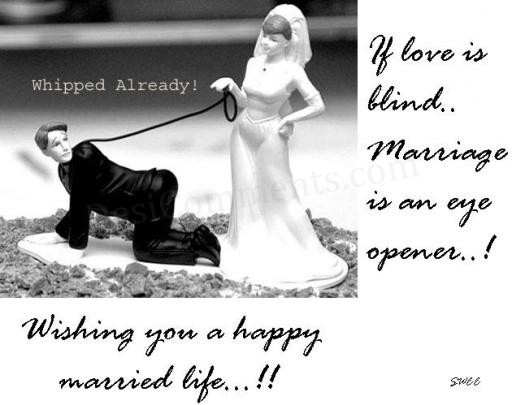 Funny Jokes Of Married Life: Wishing You A Happy Married Life
