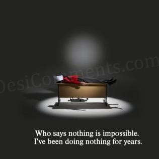 Nothing is impossible?