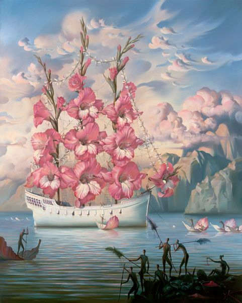 Ship with flowers