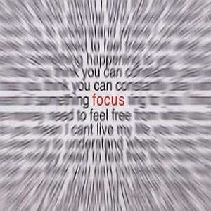 Focus on it.....!