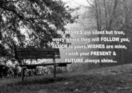 My wishes are silent but true…