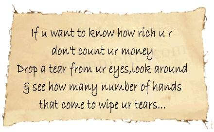 If u want to know how rich you are…