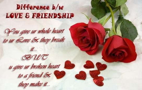 Difference between Love and Friendship