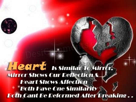 Heart is similar to mirror…