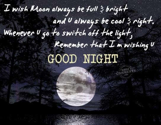 Funny Goodnight Meme For Him : I m wishing u good night desicomments