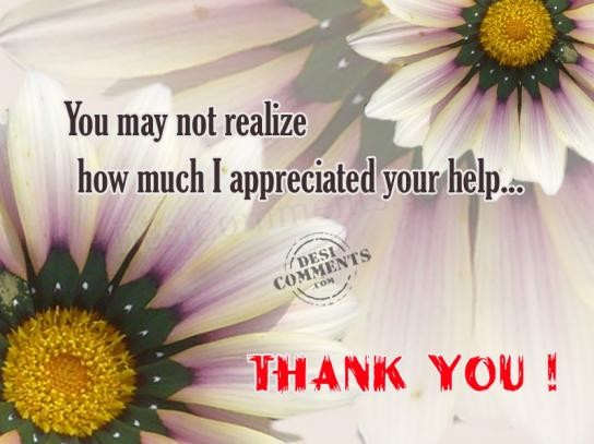 how much i appreciated your help desicomments com