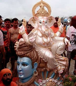 Ganesh With Lord Shiv