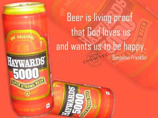 Beer is living proof that God loves us
