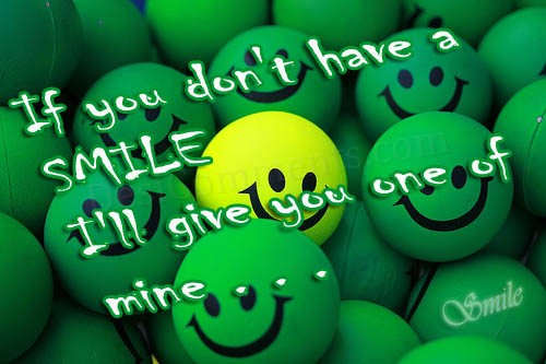 If you don't have a smile