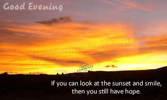 Picture: If you look at the sunset and smile