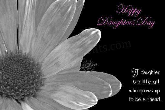 Picture: A daughter is a little girl