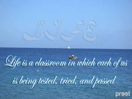 Life is a classroom