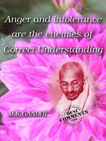 Picture: Anger and intolerance