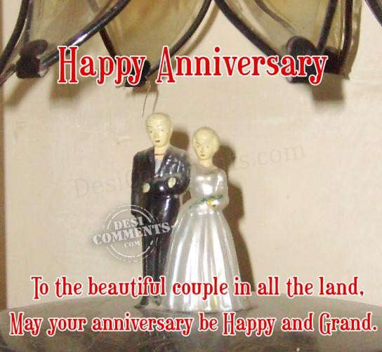 Happy Anniversary To A Beautiful Couple Quotes: To The Beautiful Couple In All The Land