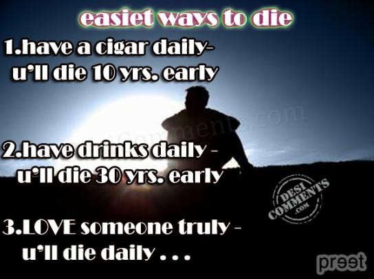 Quotes On Courage And Love Easiest way to die - D...