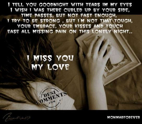 I Miss You My Love Desicommentscom