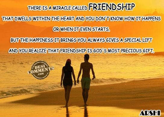 Friendship is God's most precious gift