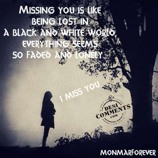 Missing you is like being lost