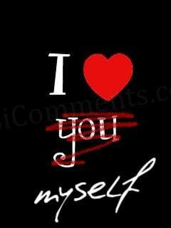 I love myself - DesiComments.com  I Love Myself Quotes For Boys