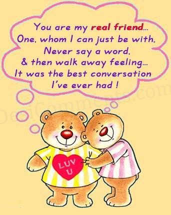 You are my real friend