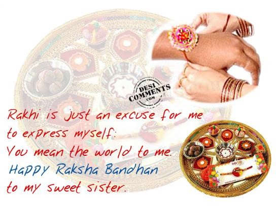 Picture: Happy Rakhsha Bandhan To My Sweet Sister