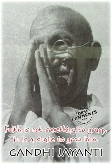 Faith is not something to grasp