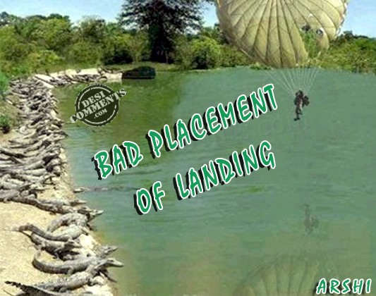 Bad placement of landing