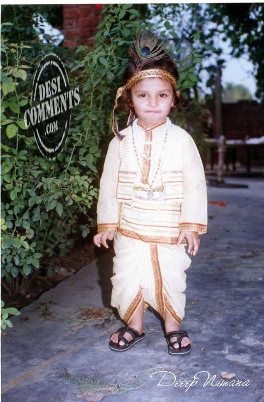 Little Boy In Krishna's Dress