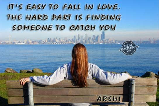 It's easy to fall in love