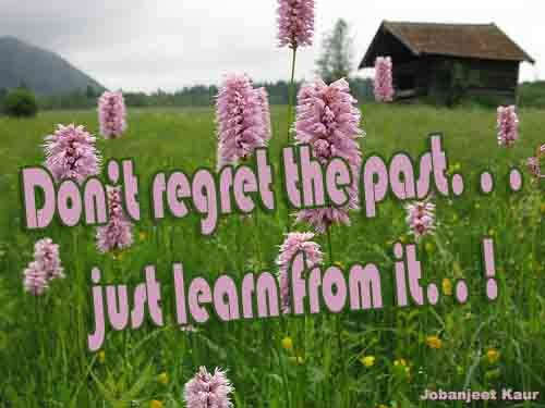 Don't regret the past...
