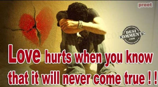 Love hurts when...