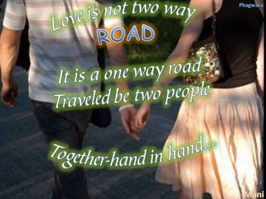 Love is not two way road