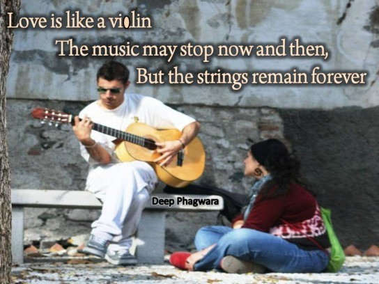 Love is like a violin