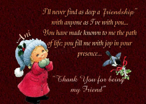 Thank you for being my frnd