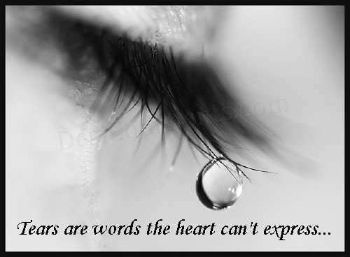 Tears are words...