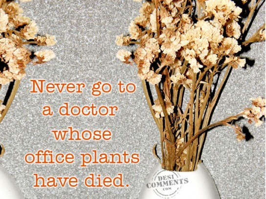 Never go to a doctor whose...