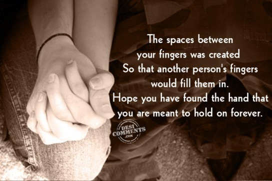 Picture: The space between your fingers