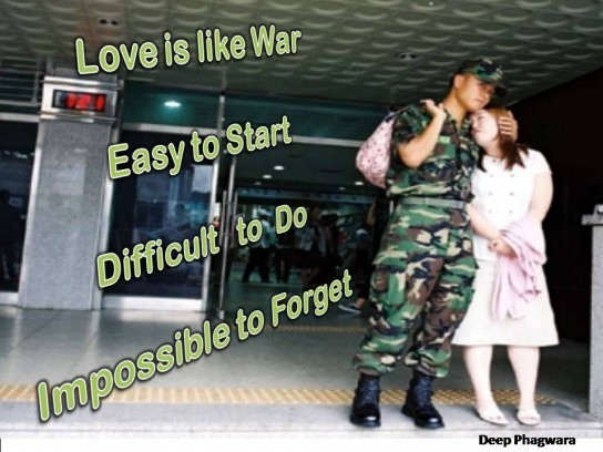 Picture: Love is like war