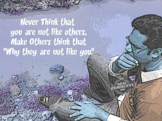 Make others think that...