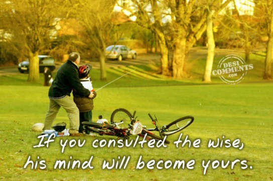 If you consulted the wise...