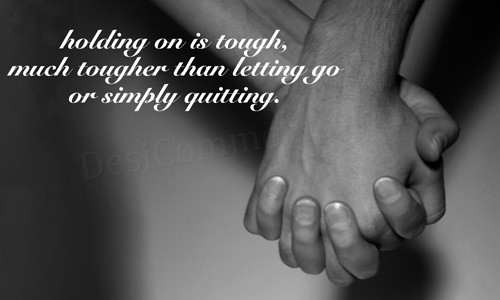 Picture: Holding on is tough