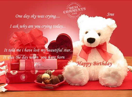 Advance birthday wishes to our dear sriniketan on 9th september happy birthday and a big god bless always bookmarktalkfo Choice Image