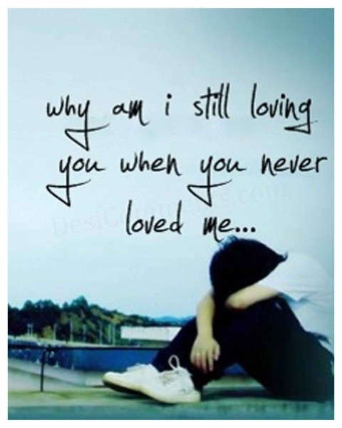 You never loved me
