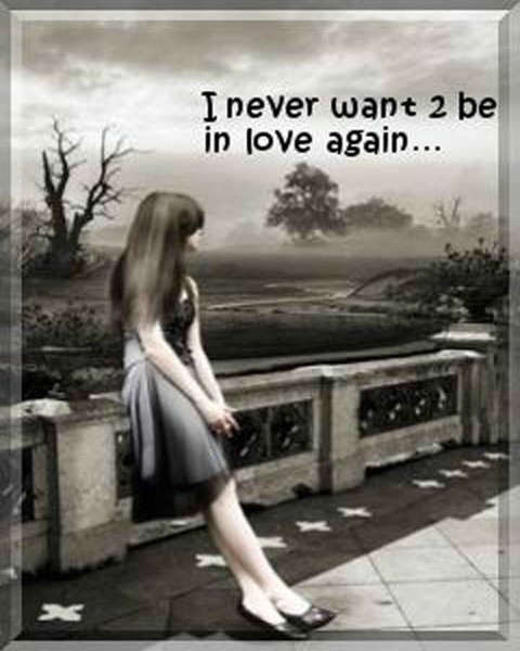 I never want to be in love again